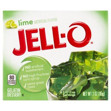 Jell-o, Gelatin Dessert, Lime (Pack of 2)