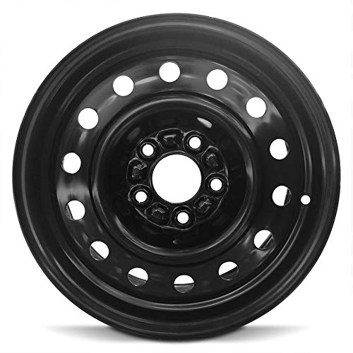 Road Ready Car Wheel For 2002-2005 Saturn L Series 15 Inch 5 Lug Black Steel Rim Fits R15 Tire - Exact OEM Replacement - Full-Size Spare