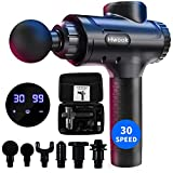 Massage Gun Deep Tissue Massager - 30 Adjustable Speed Handheld Massager Percussion Muscle Massager for Pain Relief,6 Different Heads for Cordless Vibration Massage Device