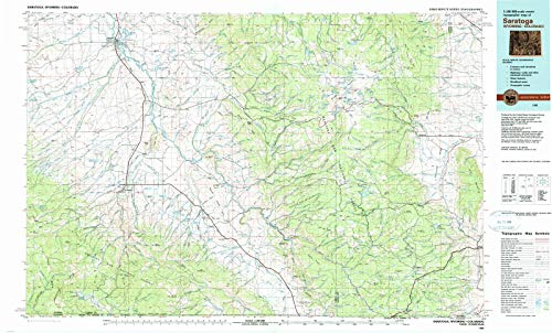 Wyoming Maps - 1982 Saratoga, WY - USGS Historical Topographic Wall Art - 40in x 24in