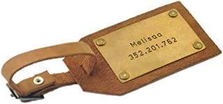 Custom Leather Luggage Tag, Personalized Leather Luggage Tag Mens Gift Husband Gift