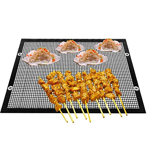 Yagosodee High Temperature Resistant Barbecue Grid Sheet Reusable Non-Stick Barbecue Mesh Bag for Outdoor Picnic Cooking BBQ(22 * 27cm)