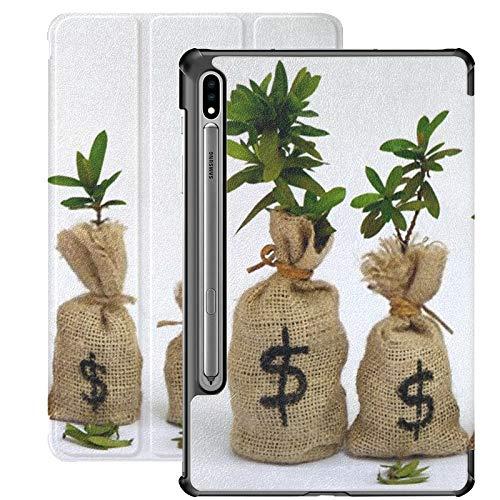 Funda Galaxy Tablet S7 Plus de 12,4 Pulgadas 2020 con Soporte para bolígrafo S, Cuatro Bolsas de Dinero, Esta Funda Protectora con Soporte Delgado para Samsung