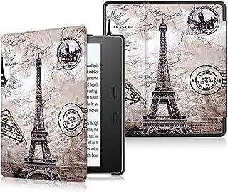 Capa para Kindle Oasis da 9a geração (2017-2018) - Fecho magnético - Leve - Rígida - Cartão Postal Paris