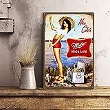 Plaque Miller Beer, Plaque Humoristique, Style Vintage, Panneau de bière, Panneau de Bar à la Maison, Barre Humide, décoration de Bar, Plaque de Bar rétro