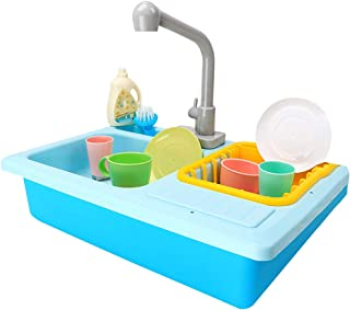 Amaae Color Changing Kitchen Sink Toys Children Heat Sensitive Thermochromic Dishwash(Color:colorful; Material:Plastic)