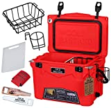 20QT Cold Bastard Rugged+ RED NEON Premium Ice Chest Cooler Accessories Free S&H