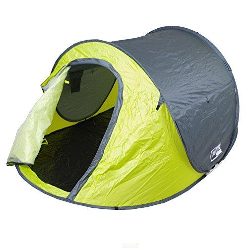 Lastpak Wurfzelt - Popup-Zelt - 245x145x95cm - 2 Personen - Strand, Camping, Festival Zelt - Wasserdicht und UV-schutz - Grün - Inkl. Tasche