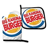 Mjmhvfhtgdcgdcx Pulp Fiction Big Kahuna hamburguesa - Manoplas para horno y ollas, resistentes al calor