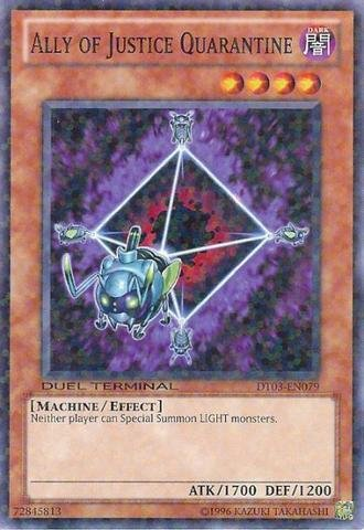 Yu-Gi-Oh! - Ally of Justice Quarantine (DT03-EN079) - Duel Terminal 3-1st Edition - Common