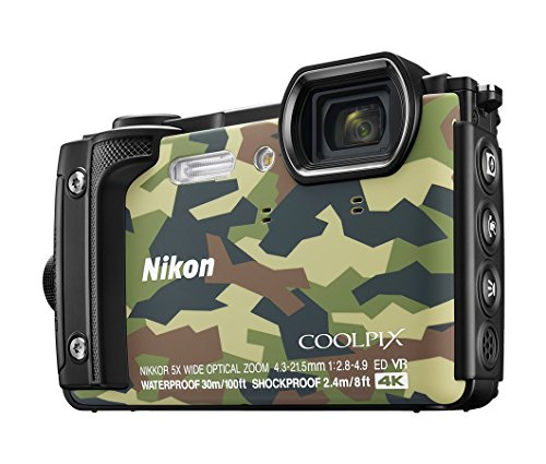 Nikon W300 Waterproof 30m & 16.05 Megapixel Digital Camera(Camouflage) with 16 GB Card & Carry...