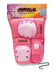 Includes knee, elbow and wrist pads Launched in Melbourne Australia in 2017, Impala is driven by a team of girls with a passion for skating. With a nostalgic throwback to the 70's, 80's & 90's, Impala is bringing back the yesteryears of skate.