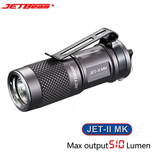 Flashlight,OVERMAL New Portable JETbeam JET-II MK Cree XP-L HI 510 Lumens Waterproof LED Flashlight