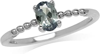 Petite Simulated Color Change Alexandrite 925 Sterling Silver Stack Stackable Solitaire Ring