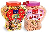 Percy Fruit Rings and Strawberry Fills Combo Pack of 2 Jars [Multigrain Froot Loops High Fibre Cream Cereal] Jar 730 g
