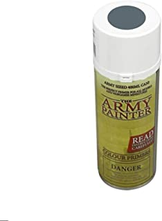 The Army Painter Color Primer, Uniform Grey, 400 ml, 13.5 oz - Acrylic Spray Undercoat for Miniature Painting