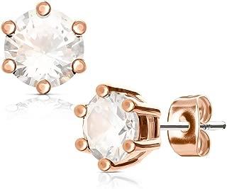 1 paire de boucles d/'oreille en perles de zircon en cuivre doré