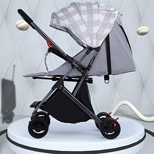 kyman Cochecito liviano para bebés de Dos vías Push Portable Portátil Placa de Viaje Carruaje de bebé Puede Sentarse y acostarse 0~36 Meses de Carro Infantil (Color: púrpura) (Color : Hot Mum)