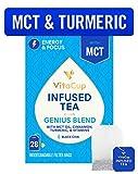 VitaCup Genius Blend Infused Tea 28 ct |Keto|Paleo|Whole 30| Chai Black Tea with MCT, Cinnamon,…