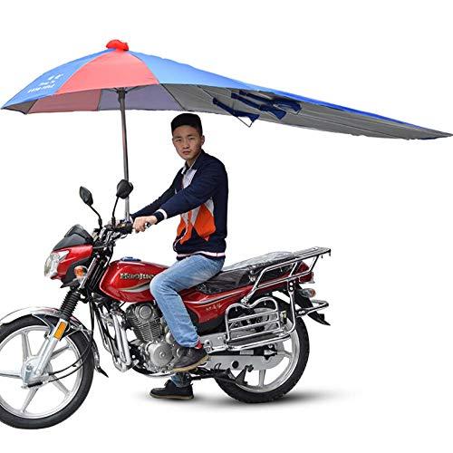 JIANG Motocicleta sombrilla sombrilla Refugio Lluvia Protector Solar Engrosamiento Triciclo Dosel Soporte Coche eléctrico Sol Paraguas Solo Comprar Soporte