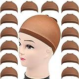 Teenitor 28 pack Brown Wig Cap, Flesh Tone Skin Color Head Cap, Elastic Medium...