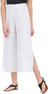 Crinkle Gauze Wide Leg Elastic Waist Cotton Culottes