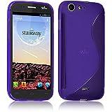 Seluxion Schutzhülle S-Line Violett, für Wiko Stairway, mit Bildschirmschutzfolie