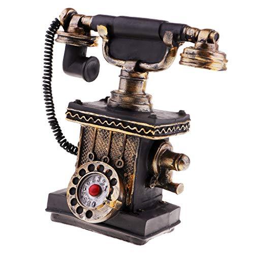 Baoblaze Teléfono Antiguo Rotativo Vintage con Cable Retro Teléfono Decoración de Hogar - 7111-31
