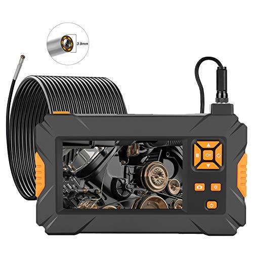 Inspektionskamera mit Licht, 1080P HD 3,9mm Endoskopkamera mit 4,3 Zoll Bildschirm, IP67 Wasserdichte Industrielles Endoskop Schlangenkamera mit 6 Einstellbare LED-Leuchten, 32GB TF Karte