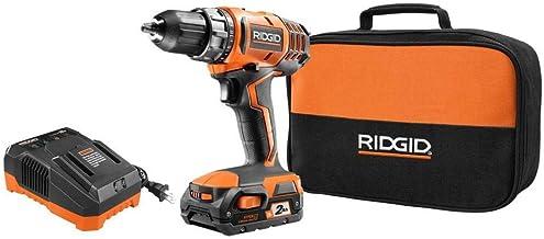 Ridge Tool Ridgid R8600521K - Kit de taladro/controlador compacto de 18 voltios con batería de 2 Ah, cargador y bolsa de h...
