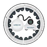 OUSEON Smart Hula Hoop, dati di registrazione intelligente e massaggio a 360 gradi, si adatta a vita da 58,4 a 129,5 cm e facile da smontare.