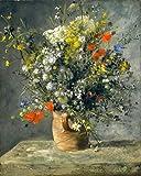 Diy Pintar Por NúMeros Para Adultos Sobre Lienzo Con Pinceles Y Pintura Acrilica Al óLeo De Bricolaje Por NúMeros Impresionismo famoso cuadro de Auguste Renoir -Flores en un jarrón 40x50cm Sin Marco