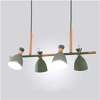 Chandelier M Pendant Light Ceiling Lamp Living Room Decor Study Dining Table Cafe Restaurant E27 Nordic Macaron Wood Iron n (Color : C)
