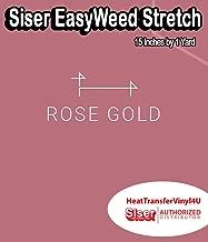 siser easyweed stretch rose gold