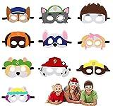 Powmag Máscaras de Fieltro, 10 Piezas Mascarade Cumpleaños, Caretas Animales Niños, Mascara Fieltro, Caretas Infantiles, Mascaras Animales con Cuerda Elástica para Niños Fiesta Mascarada Decoración