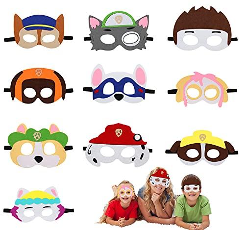 Paw Dog Masken, Cosplay Party Masken, Paw Dog Patrol Spielzeug Puppy Party Masken 10 Stück Kinder Cosplay Masken, Cosplay Party Masken für Maskerade Halloween Dress Up Party Supplies