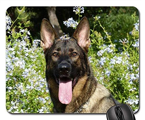 Alfombrillas para ratón - Lengua Divertida Feliz Feliz de la Cara del Animal doméstico del Perro de Pastor alemán