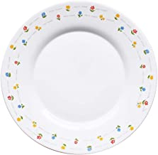 The Tableware Fiore Opal Tempered Glass Dinnerware Set of 4 (Round Plate Large)