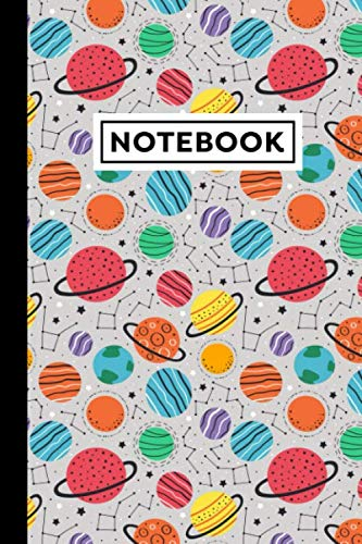 Notebook: Planets Notebook - Planets Themed Gift For Planet Lovers And Kids Who Love Planets - Planets Journal - 6 x 9 Inches - 120 Blank Lined Pages With Planets Themed Borders