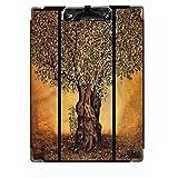 Tree of Life Decor - Portapapeles de madera dura, clip de perfil bajo Grecia, olivos ecológicos, paquete de portapapeles rígidos, clip de perfil bajo, tamaño de letra A4, suministros de aula