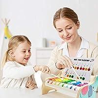 TOP BRIGHT Xilofono in Legno per Bambini – Strumento Musicale Giocattolo per Bambini di 1 Anno con 3 Spartiti – Tasti Colorati, Gioco educativo #4
