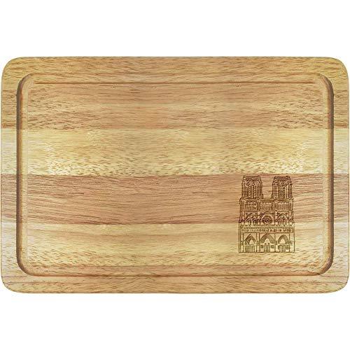 Azeeda 'Notre Dame Cathedral' Wooden Chopping / Cutting Board (WB00016775)