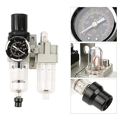 Luchtfilterregelaar, G1 / 4 500L / min Luchtbron Gasvoorbereidingseenheid Filterdrukregelaar Met manometer