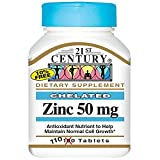Zinc 50 mg - 110 tabs,(21st Century)