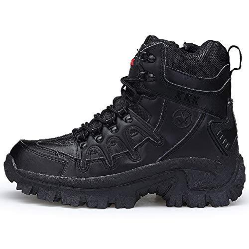 Loykind Outdoor-Berg-Wüste Kletterschuhe, Männer Knöchel Wanderschuhe, Für Wandern Wandern Griffige Wear-Resistant Camping Schuhe,Schwarz,39