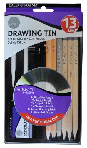 Daler Rowney - 644250012 - Kit De Loisirs Créatifs - Ensemble 13 Pièces De Crayons De Dessin
