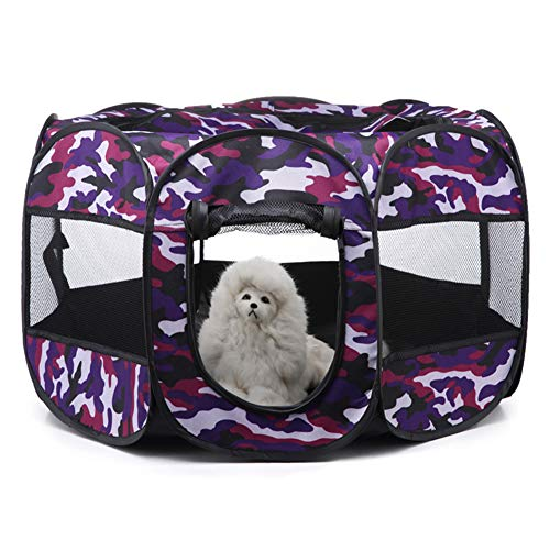 xihan123 Tipi para Perros Individualidad Tipi para Gatos Impermeable Casetas Perros Tela para Fresco En Verano Familia Viaje Cámping Montañismo Nido Propio De La Mascota Purple