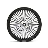 16X3.5' BLACK FAT SPOKE REAR WHEEL FOR HARLEY FXST SOFTAIL XL TOURING BAGGERS 2000-07