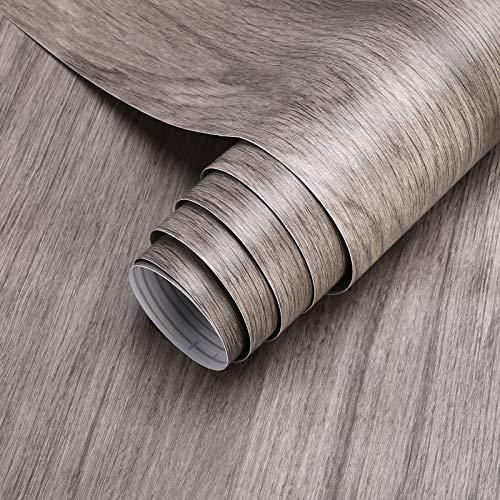 KINLO Holz Selbstklebende Klebefolie PVC Möbelfolie, 5 * 0.61M Holzoptik Folie Tapete Küchenschrank Aufkleber Dekofolie für Möbel Schrank Tische Wand