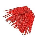 Agujas de tejer 100 unids color mezclado 7 cm agujas de punto de tejido de plástico ganchos de ganchillo Hilado de lana Aguja Niños DIY suéter herramientas de tejido Adecuado para; tejido de punto